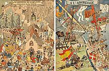 Luc-Marie BAYLE (1914-2000), peintre officiel de la Marine  Le Retour du Corsaire - A l'abordage