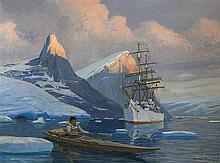 Etienne BLANDIN (1903-1991)  Le Pourquoi Pas en Arctique