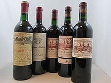 8 bouteilles 1 bt : CHÂTEAU COS D'ESTOURNEL 1985 2è GC Saint Estèphe (base goulot, étiquette tachée)