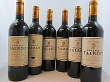 10 bouteilles 1 bt : CHÂTEAU TALBOT 1989 4è GC Saint Julien (étiquette abimée)