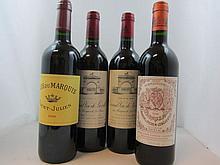 11 bouteilles  1 bt : CHÂTEAU LEOVILLE LAS CASES 1994 2è GC Saint Julien (étiquettes fanées) 2 bts :  CLOS DU MARQUIS  2006 Saint...