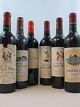 12 bouteilles 3 bts : CHÂTEAU HAUT BAGES LIBERAL 2005 5è GC Pauillac (étiquettes abimées)