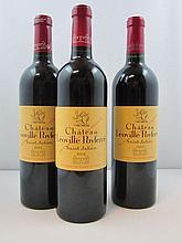 3 bouteilles 1 bt : CHÂTEAU LEOVILLE POYFERRE 2003 2è GC Saint Julien