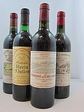 11 bouteilles 2 bts : CHÂTEAU CARBONNIEUX 1978 CC Pessac Léognan (niveaux légèrement bas, étiquettes abimées)