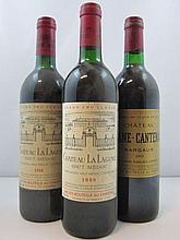 6 bouteilles 2 bts : CHÂTEAU LA LAGUNE 1988 3è GC Haut Médoc (base goulot, étiquettes léger abimées