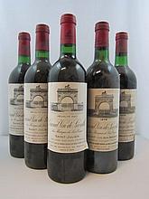 5 bouteilles 3 bts : CHÂTEAU LEOVILLE LAS CASES 1983 2è GC Saint Julien