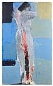 ¤ Nicolas de STAEL (1914-1955) NU DEBOUT, 1953 Huile sur toile