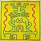 Keith HARING (1958-1990) SANS TITRE, 1983 Acrylique sur bâche vinyle