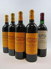 5 bouteilles 1 bt : CHÂTEAU LES ORMES DE PEZ 1982 Saint Estèphe (base goulot, étiquette fanée)