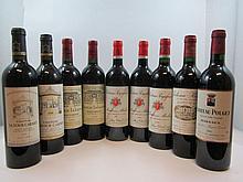 10 bouteilles 1 bt : CHÂTEAU POUJEAUX 1998 Moulis (étiquette fanée)