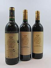 6 bouteilles 2 bts : CHÂTEAU GRUAUD LAROSE 1986 2è GC Saint Julien (1 base goulot, étiquettes abimées et déchirées)