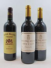 5 bouteilles 2 bts : CHÂTEAU MALESCOT SAINT EXUPERY 2005 3è GC Margaux