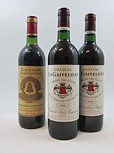 5 bouteilles 1 bt : CHÂTEAU ANGELUS 1983 GCC Saint Emilion (base goulot, fanée)
