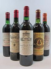 5 bouteilles 1 bt : CHÂTEAU LEOVILLE BARTON 1979 2è GC Saint Julien (haute épaule, tachée)