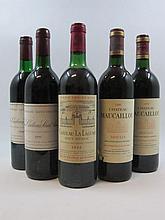 12 bouteilles 1 bt : CHÂTEAU MAUCAILLOU 1989 CB Moulis (base goulot)