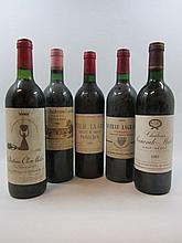 6 bouteilles 1 bt : VIEUX CHÂTEAU CERTAN 1982 Pomerol (étiquette sale)