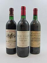 6 bouteilles 2 bts : CHÂTEAU LA GRAVE TRIGANT DE BOISSET 1982 Pomerol (étiquettes sales)