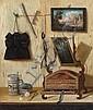Attribué à Andrea Gottardo Domenico Remps Actif à Venise au XVIIe siècle Trompe l'œil au coffret à bijoux et Trompe l'œil aux volati.