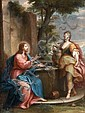Placido Costanzi Naples, 1690 - Rome, 1759 Le Christ et la Samaritaine Huile sur toile