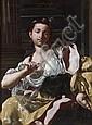 Attribué à Jacopo Cestaro Naples, 1718 - 1778 La mort de Cléopâtre Huile sur toile