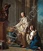 P. Nicolet Actif à Paris dans la seconde moitié du XVIIIe siècle Le Sacrifice à Cérès Huile sur toile