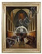 Atelier de François-Marius Granet Début du XIXe siècle Le choeur de la chapelle des Capucins de la place Barberini à Rome Huile sur...