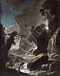 Philipp Peter Roos Francfort-sur-le-Main, 1657 - Rome, 1706 Cavalier venant se désaltérer à la cascade Sur sa toile d'origine