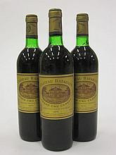 10 bouteilles CHÂTEAU BATAILLEY 1975 5è GC Pauillac (légèrement bas)
