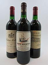 3 bouteilles 1 bt : CHÂTEAU MONTROSE 1983 2è GC Saint Estèphe (base goulot)