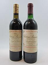 6 bouteilles 3 bts : CHÂTEAU BRANAIRE DUCRU 1982 4è GC Saint Julien(base goulot, étiquettes tachées)