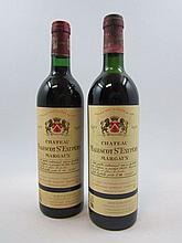 9 bouteilles 3 bts : CHÂTEAU MALESCOT SAINT EXUPERY 1983 3è GC Margaux