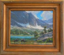 Charles Muench (1966 - ) Oil - Parker Lake California, Listed