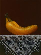 HERNAN MIRANDA (1962 - ) Paraguay - Oil on canvas with bananas, listed
