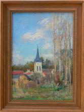Gaston Durel (1879 - 1954) - French Farm View