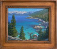 Charles Muench (1966 - ) Oil - Lake Tahoe California, Listed