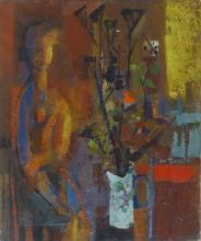 FAUVISM 20th C. Oil signed, 1950's