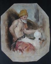 Edward Frankfort (1864 - 1920), Oil on Paper, signed, Listed