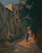 Louis Battin (19th Century) Paris Street French Listed
