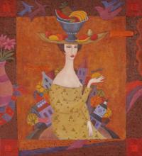 ALEXANDER  KHOMSKY Oil on Canvas, Modern Eve, Listed