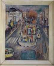Lucien Adrion (1889 - 1953) Impressionism Paris View, Listed