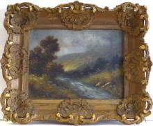 THOMAS GRIFFIN (1858 -1918) - Oil with Landscape, Listed