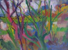 FAUVISM 20th C. Oil unsigned, 1950's creation