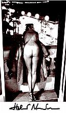 Vintage HELMUT NEWTON photo signed Nude