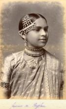 19th Century Photo print Woman from Sri Lanka - Antique Print