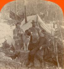 Antique Stereo Photograph - Home in Alaska 1898