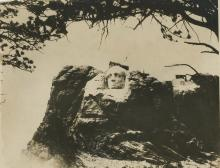 Silver Gelatin Construction George Washington Face Mount Rushmore, 1920's