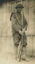 Original Silver Photo 1910's. American Soldier WWI