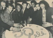 Original AFP Press Wire 50 Birthday of Pele, Milan, 1990