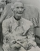 Original press silver photo of Grandma Moses, 1961