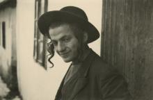 Original from the epoch silver photo young jew in Nazi Concentration Camp, 1940's